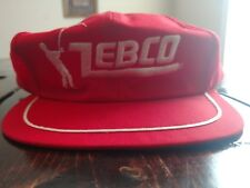Vintage Zebco Fishing Tackle Lures Rod Reel Line Classic SnapBack ball Hat Cap