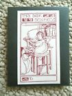 20 Bookplates - Drawing Of Young Girls At Desk with Candle- This Book Belongs To