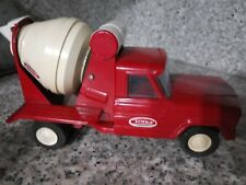 Vintage classic RED TONKA Pressed Steel Cement Mixer Truck very good condition