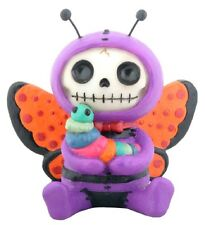 FURRY BONES FIGURINE - FLUTTERS THE BUTTERFLY - SKELETON SKULL IN COSTUME == NEW