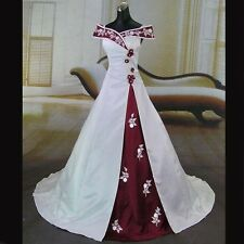 Vintage Sweetheart Embroidery Wedding Dress Bridal Gowns Custom Size Color