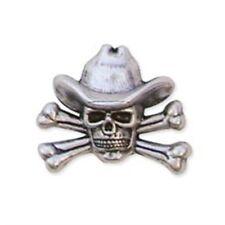Cowboy Skull & Crossbones Conc - Concho 11 4x Leathercraft Accent Tandy