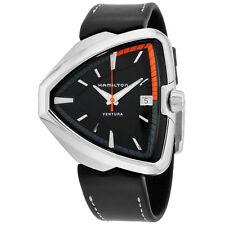 Hamilton Ventura Black Dial Black Leather Strap Men's Watch H24551731