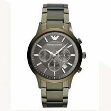 43e0e08d2c61 Verde Caqui Armani relojes AR11117 Acero Inoxidable Cronógrafo Reloj de  hombre