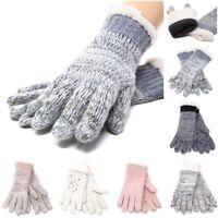 Womens Winter Snow Wool Gloves Sleeve Warmer Warm Thick Knit Thermal Insulated