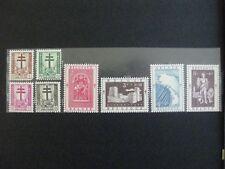 timbres belges : Croix de Lorraine etr dragon 1952 COB n° 900 à 907 **