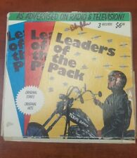 The Leaders of the Pack 50s Music Set of 3 Records Vinyls LP's Vintage Comp