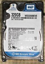 Western Digital Scorpio Blue 320 GB 5400RPM 2.5 WD3200BEVE HDD IDE PATA