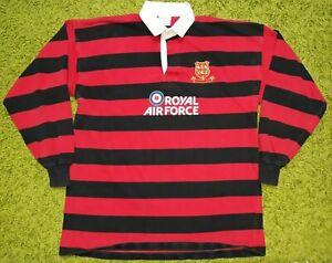 Vintage Llantwit Major 90's Rugby Union Match Worn Shirt Royal Air Force IEV