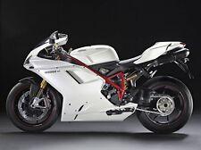 Gloss White Complete Fairing Kit Injection for 2007-2012 Ducati 848 1098 1198
