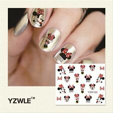 Minnie Mouse Ribbon Nail Art Sticker Decal Decoration Manicure Water Transfer