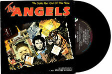 "THE ANGELS - WE GOTTA GET OUT OF THIS PLACE - RARE PROMO 7""45 RECORD PICSLV 1986"