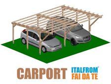 Carport in Legno Impregnato 5 x 6 Tettoia Auto Pergola Gazebo Garage a Interrare
