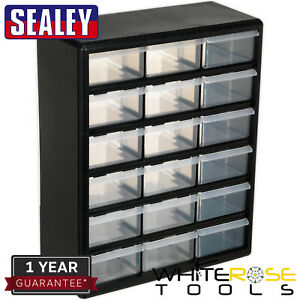 Sealey Cabinet Box 18 Drawer Tool Storage Accessory Fixings Screws Nuts Bolts