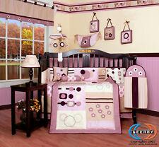 15PCS Baby Girl Artist CRIB BEDDING SET - Including Lamp Shade & Mobile