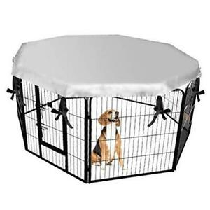 Dog Crate Cover for Outdoor and Indoor- Double Side Waterproof Silvery