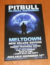 Pitbull Global Warming Meltdown 2013 Promo Original Double Sided Poster 11x17