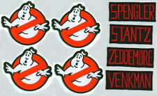 FANCY DRESS HALLOWEEN COSTUME PARTY GHOSTBUSTERS 4XGHOSTBUSTER LOGO/NAME SET