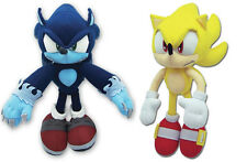NEW Set of 2 GE Sonic the Hedgehog - Werehog & Super Sonic Stuffed Plush Toys