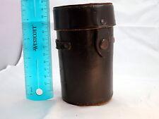 "Minolta F2.8/ 135mm Brown Leather Lens Case 5""tall x 2 3/4""w - SR Vintage"
