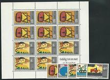 Niederlande aus 1967 ** postfrisch MiNr.850-854 + Block 3 - Voor het Kind!
