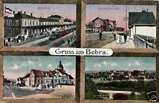 2511/ Foto AK, Bebra, Bahnhof, Bahnhofsstr., an der Linde, 1917