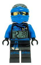 Lego Ninjago Sky Pirates Jay Mini Figur Digital Wecker Blau LCD Display