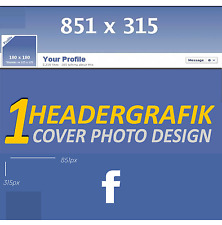 2x Profile Picture Design header graphic Facebook profile cover image for your account FB
