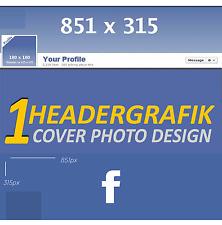 1x Profilbild Design Headergrafik Facebook Profil Titelbild für ihren Account FB