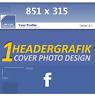 2x Profilbild Design Headergrafik Facebook Profil Titelbild für ihren Account FB