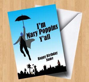 Personalised Yondu Guardians of the Galaxy I'm Mary Poppins Y'all Birthday Card