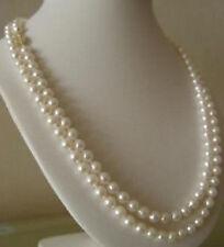 7-8MM weißen Süßwasser-Zuchtperlen Halskette 90cm