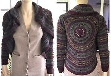 Ralph Lauren Hand Knit Wool Sweater Cardigan Cashmere Circle Size XS RARE