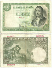 BILLETE DE 1000 PESETAS DE 1949 (MBC-) RAMÓN DE SANTILLÁN (SIN SERIE)