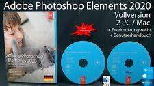 Adobe Photoshop Elements 2020 Vollversion Box + DVD 2 Win/Mac Anleitung OVP NEU