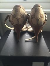 Gucci gg monogram ankle strap shoes UK size 6 (39)