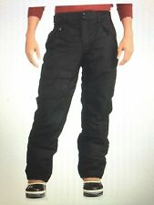 NEW Faded Glory Mens Black XL 40/42 Ski Snow Pants Wind Water Resistant