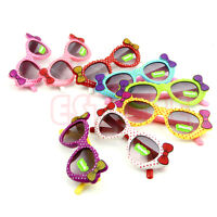 HOT Cute Boys Girls Kids Sunglasses Glass Child Goggles Bow Eyewear UV 400