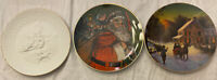 Avon Lot Of 3 Christmas Plates. 1985, 1987, 1988