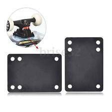 "Tera 2pcs 0.12""/3mm Soft Skateboard Riser Shock Pads Longboard Shockpads Black"