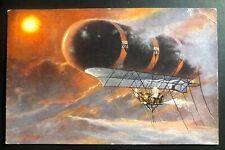 1909 Austria Picture Postcard Cover Military Balloon Nulli Secundus II