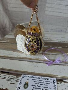 BlumChen spring peeps Victorian egg chick Easter ornament best of Christmas past