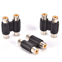 Double 2 x RCA Phono Coupler Female to Female Audio Video Connector Adaptor-ZY