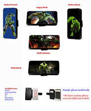 Custom Inspired Incredible Hulk leather phone case for Samsung iPhone Xperia LG