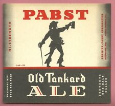 Ver #1 Hi-Strength Pabst Ale Beer label, Irtp Milwaukee, Wi, Il, 1/2 Gal. 64 oz