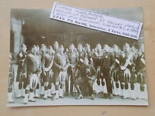 MILITARY PHOTOGRAPH - GORDON HIGHLANDERS - OFFICERS AT RAILWAY STATION c1899