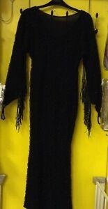Horror/ Adams family/ morticia/ vampiress / ex-hire fancy dress costume