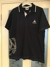 Mens Le Coq Sportif Blue Collared Polo Shirt Size Large (510)