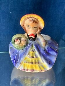 Antique Mary Mary Quite Contrary Nursery Rhyme Planter Tisket Tasket 5/4 ❤️m9