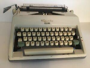 Rare Vintage 1960s Olympia Monika Typewriter Mid Century Modern